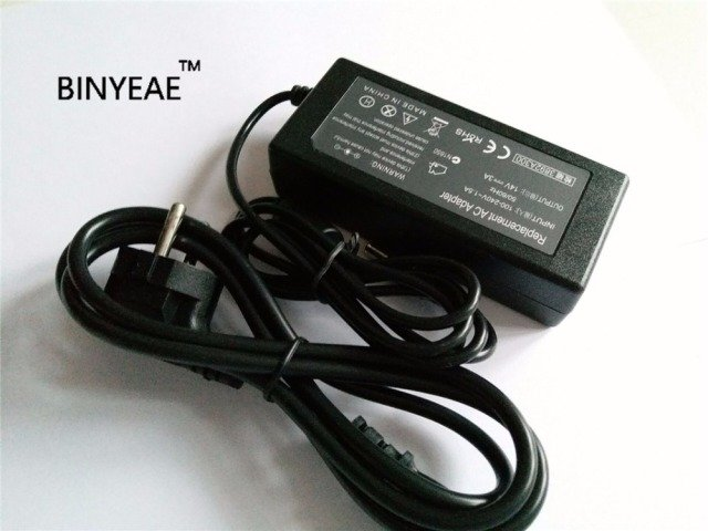 14V 3A  6.5X4.4MM  Wholsesale Lot AC DC Power Supply Adapter Charger for SAMSUNG TOSHIBA  Laptop with Power Cord Cable