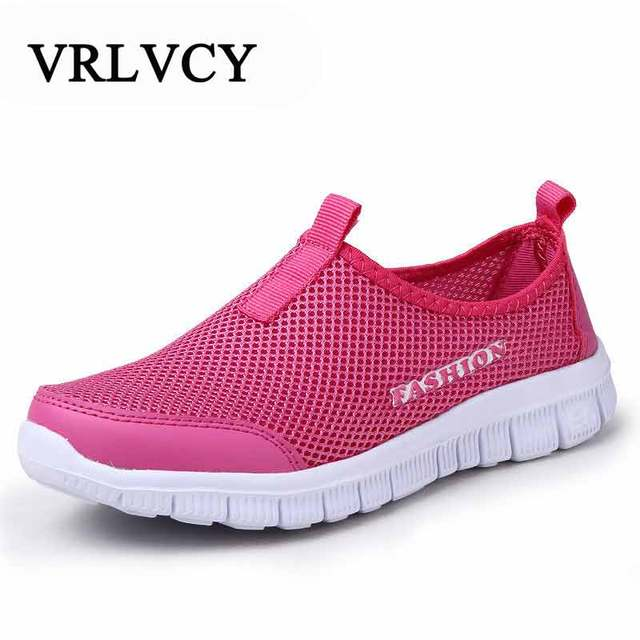 Women Cool Mesh Breathable Casual Shoes New Arrival Women's Fashion Air Mesh Summer Shoes Female Slip-on Plus Size Shoes