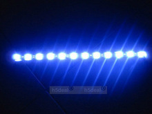 Hot Car Led Lamp String Waterproof Flexible Car Strip 30CM White Blue Light Z, free shipping