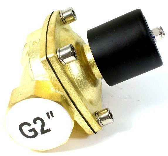 Free Shipping High Quality 2PCS In Lot 2'' N.C Brass Water Solenoid Valves High Flow Rate 12VDC