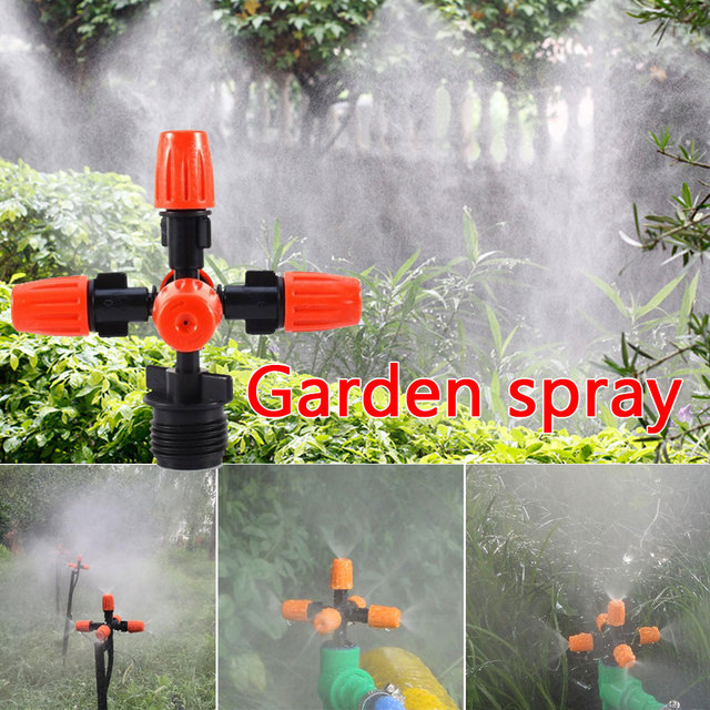 Garden Spray Nozzle Adjustable Irrigation Nozzle Atomization Adjustable Plastic Irrigation Seedling Garden Sprinklers