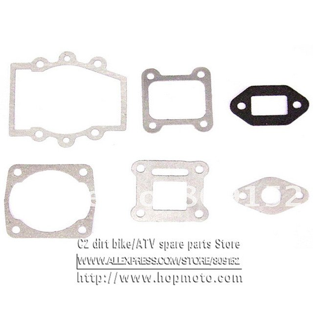 47cc 49cc full complete gasket for 44-6  gasonline engine 40-6 air cooled engine of pocket bike scooter tools