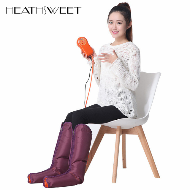 Healthsweet Electric Air Compression Leg Massager Leg Wraps Foot Ankles Calf Massage Machine Promote Blood Circulation Pain Ease