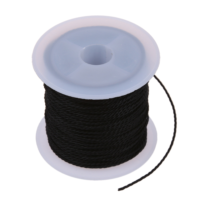 Roll Black Waxed Cotton Necklace Beads Cord String 1mm HOT