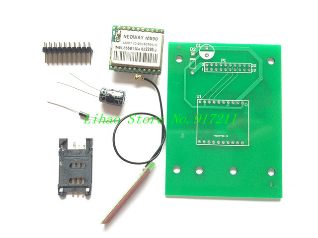 DIY KIT GSM GPRS 900 1800 MHz Short Message Service m590 SMS module for project for Arduino remote sensing alarm