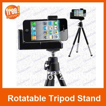 Cell phone Tripod,Mount Holder Stand for iphone 4 5 5c 5s Mobile Phone Digital Camera Tripod,Free Shipping