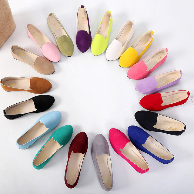 Women's Flats 2019 Women Shoes Candy Color Woman Loafers Spring Autumn Flat Shoes Women Zapatos Mujer Summer Shoes Size 35-43