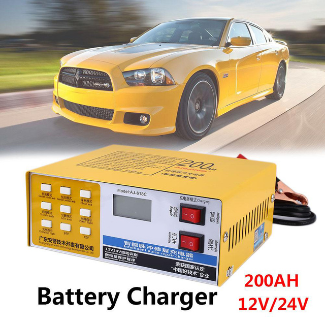 Car Battery Charger Pulse Repair Charging Kit Accessories Electric Car PWM Replacement 220W 12V/24V Automatic Automobile Spare