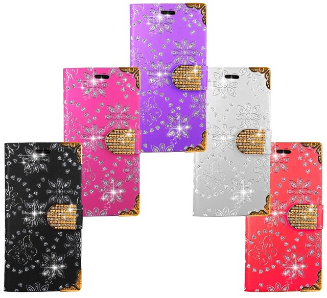 Bling Case For Samsung Galaxy J1 2016 Wallet Diamond Leather Kickstand Bag Coque Case Cover For Samsung Galaxy J1 2016