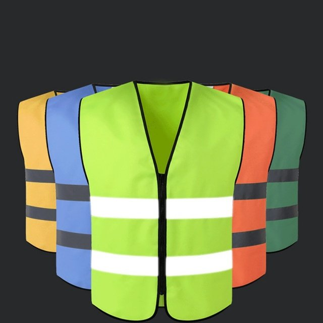 1PCS Safety Vest Reflective Security Jacket Working Waistcoat Cycling Uniforms Outdoor Workplace Road Sportswear Newest