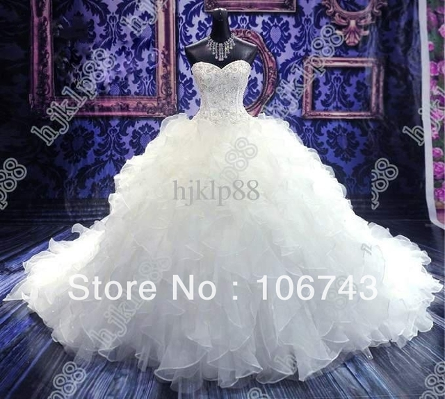 free shipping 2018 cathedral bridal gowns Luxury Royal Puffy Catherdarl Train beaded Organza mother of the bride dress