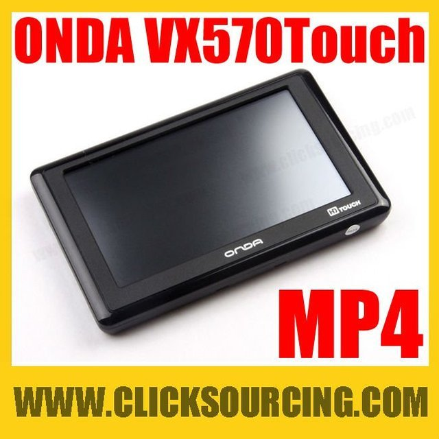 ONDA VX570 Touch HD 4.3 inch 720P Video Player MP4 with TV-out Function 4GB Black DROP SHIPPING