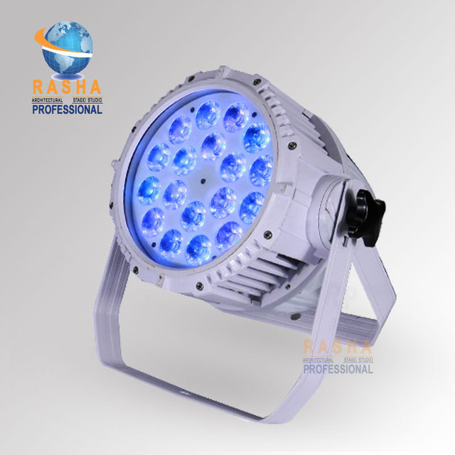 Rasha High Quality Waterproof 18pcs*15W 5in1 RGBAW  LED Par Light,Outdoor LED Par Light For Stage Party,Event