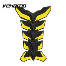 3D Fishbone Shaped Motorcycle Motorbike Stickers Film Oil Fuel Tank Soft Rubber
