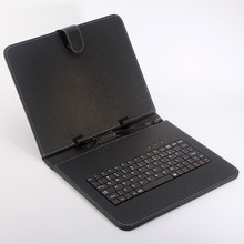 Free Shipping Leather Case  Russian and English Keyboard for 7 inch Tablet PC use