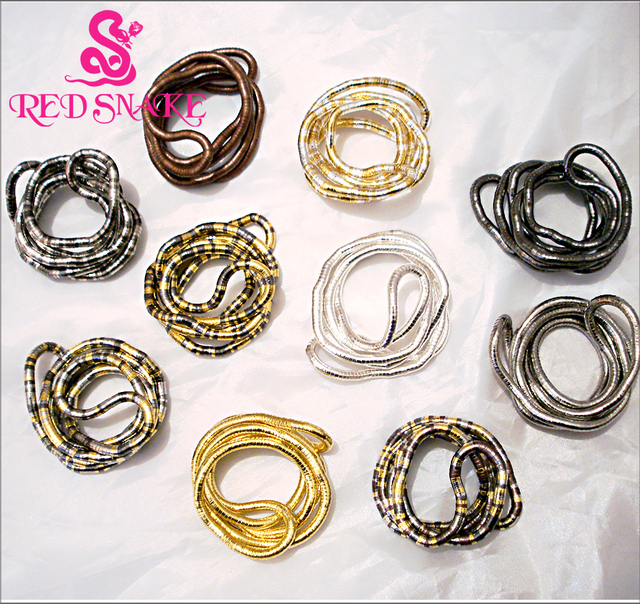 RED SNAKE Get It ! High Quality Stainless Steel Punk Trendy Bendable Flexible Bendy Snake Necklace Larger In Multi Color