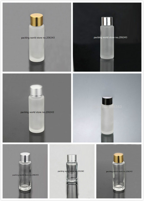 30ml frosted/clear glass bottle with lid & plastic stopper  for toner/emulsion/lotion/serum/toilet skin care cosmetic packing