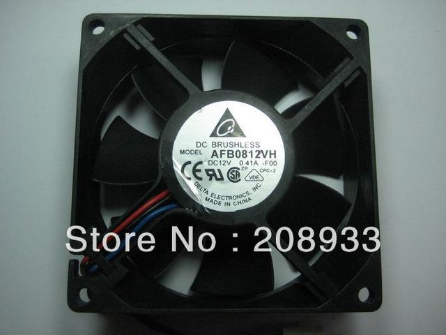 For Double ball bearing fan cafes preferred Delta AFB0812VH 8025 8cm / 8 cm high winds+cooling fan