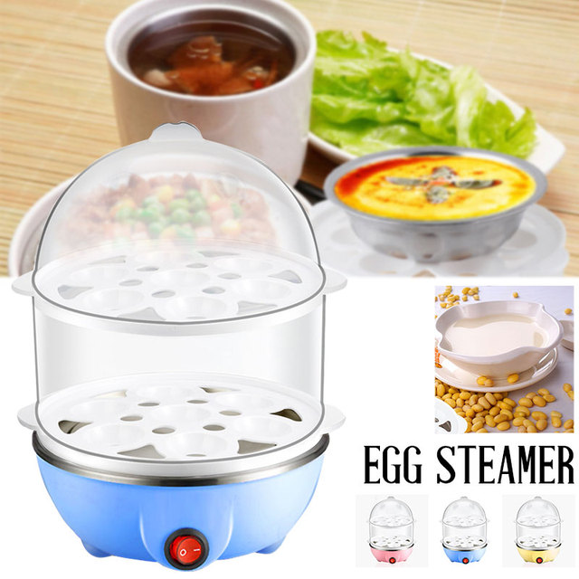 2019 Drop Shpping Double-Deck Egg Steamer Egg Boiler Multi-Function Electric Braise Egg Cooker for Cooking Tools