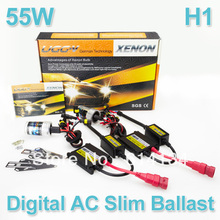 Xenon HID KIT H1 4300k 5000k 6000k 8000k 12000k White Blue Color Xenon Bulbs 55W Digital AC ballast 12V Car Headight