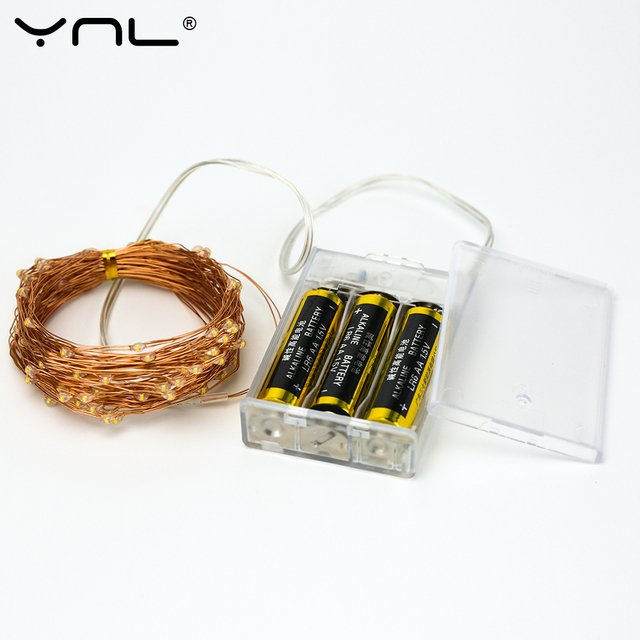 Battery LED String Lights Copper Wire 100 LEDs 10M USB Waterproof Wedding Party Decoration Christmas Flasher Fairy Lights
