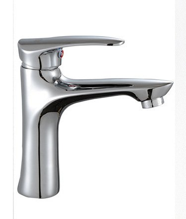 Free shipping Solid brass basin faucet with single handle polished chrome basin sink faucets , bathroom basin sink mixer tap