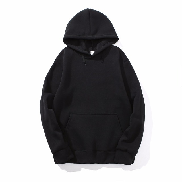 2018 New brand Hoodie Streetwear Hip Hop red Black gray Hooded Hoody Mens Hoodies and Sweatshirts Size M-XXL