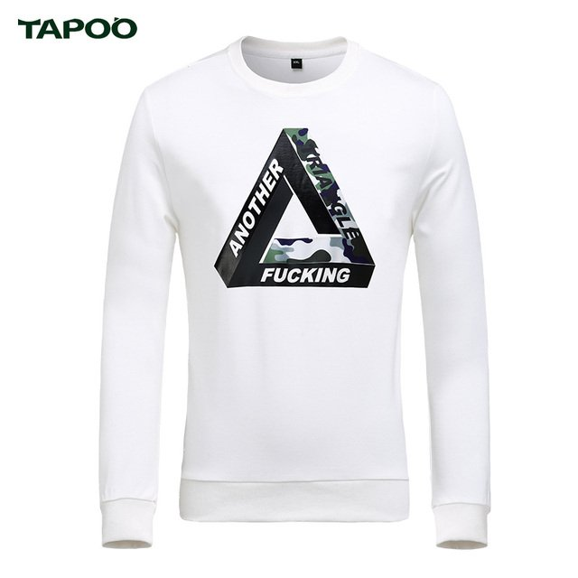 TAPOO Sons Print Men's T-shirt Famous Brand O Neck Long Sleeve T-shirt Men High Quality in Streetwear M-5XL