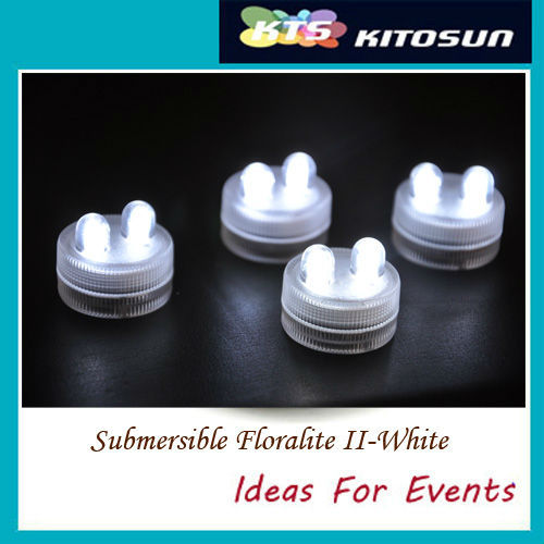 Hot Sale 100pcs/pack LED WHITE DOUBLE  SUBMERSIBLE Floralyte II Lights Wedding Christmas Thanksgiving New Year Halloween