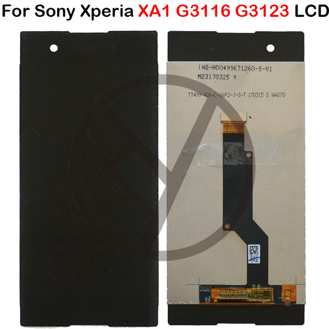 For Sony Xperia XA1 LCD Display Touch Screen Digitizer Assembly + Frame G3116 G3121 G3112 For Sony XA1 Lcd touch