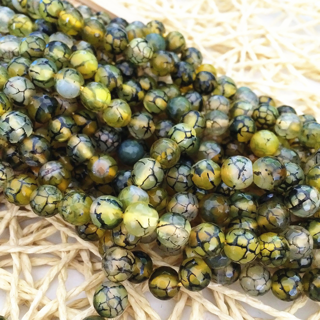 Natural yellow dragon vein onyx agat stone carnelian faceted round 6mm 8mm 10mm 12mm loose beads jewelry diy findings 15inch A11