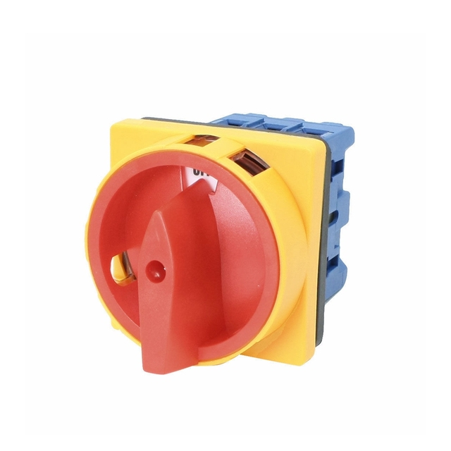 Load circuit breaker switch AC 660V 32A 6 Terminals 3 Poles 3 Phases 3NO 2 Positions On-Off Rotary Cam Changeover Switch