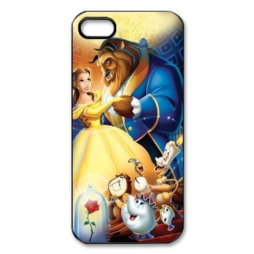 Beauty and the Beast dancing classic print pattern Hard Case Back Cover for iphone 4 4s 5 5s 5c 6 6s 6plus 6s plus