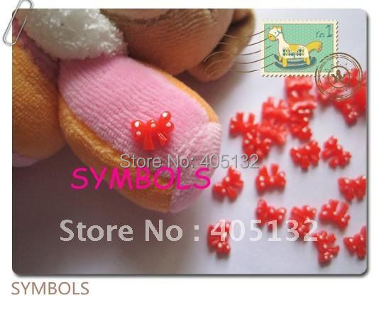 rb-12-3 Free Shipping Wholesale 200pcs/bag Red Dot Bowknot Nail Art Decoration Cellphone Decoration Bow Decoration