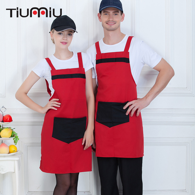 """Big Pocket """"H"""" Apron 4 Colors High Quality Wholesale Women Men Kitchen Hotel Coffee Shop Bakery Chef Waiter Cleaning Work Aprons"""