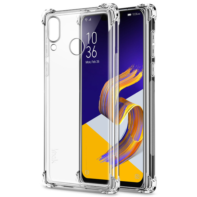 IMAK for Asus Zenfone 5 5z ZE620KL ZS620KL TPU Case Airbag Cover Shockproof Back Cover Soft Silicone Cover + Screen Protector