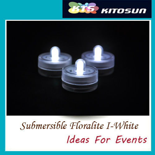 Factory vendor 120pcs white color Submersible battery led FLoralyte~Submersible led lights-underwater led light