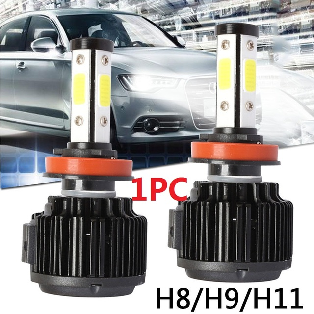 H8/H9/H11 6500K Lighting Assembly Front Lamp Universal Safety LED Fog Light Super Bright Car Styling LED Headlight Automobile