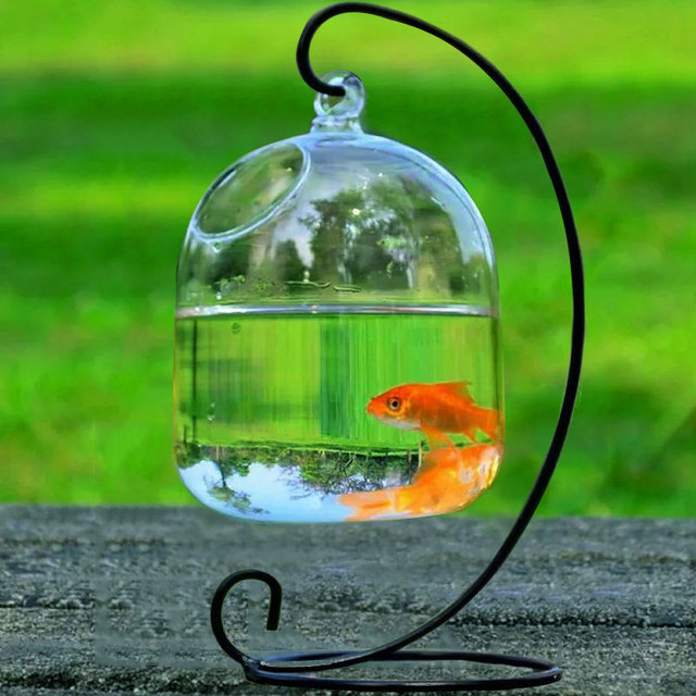 Handmade Hanging Hanging Air Plant Vases Glass Vases Transparent Hanging Vases Fishbowl Vases Gift for Valentine'S Day no holder
