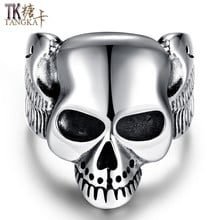 Cool 316L Stainless Steel Evil Spider Man Skull Band Rock Roll Fashion Ring !!