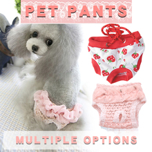 Newest Pet Physiological Pants Puppy Cute Shorts Sanitary Brief Panties Washable Durable Doggie Diapers Underwear Sanitary Short