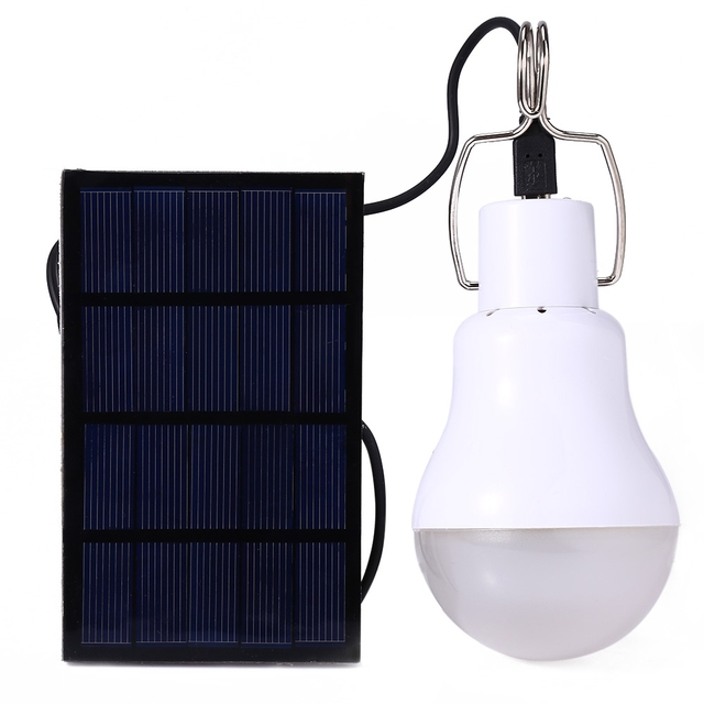 Outdoor Solar LED Bulb Lighting 15W Solar Powered Lamp For Street Camping Tent Fishing Energy Conservation Emergency Lighting