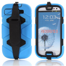 Hybrid Best Impact Silicone Case Cover For Samsung Galaxy S3 i9300 Stand Phone Cases Screen Protector