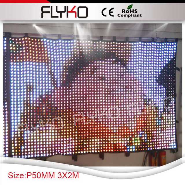 Free shipping high definition P50 2X3M Christmas decoration stage curtain led displays