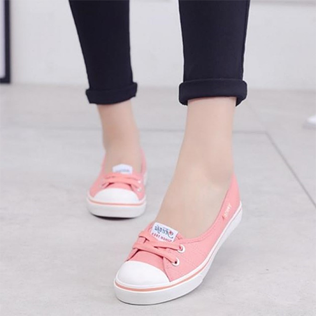 women spring canvas shoes women shallow mouth shoes slip-on Korean students zapatillas mujer casual shoes