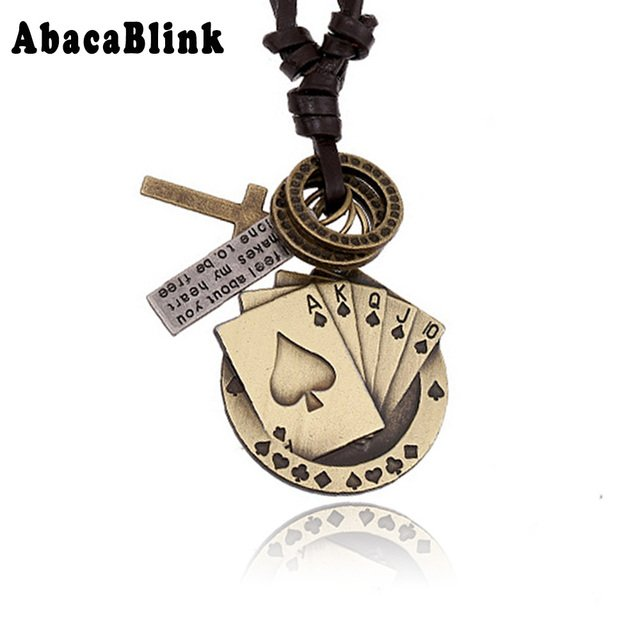 Vintage Women Men Leather Necklaces High Quality Metal Dog Tag Cross Chunky Necklace Pendant Punk Rock Jewelry Accessories Gifts