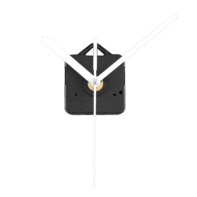 Quality Clock Movement Mechanism Parts DIY Tool Set with White Hands Quiet #3@