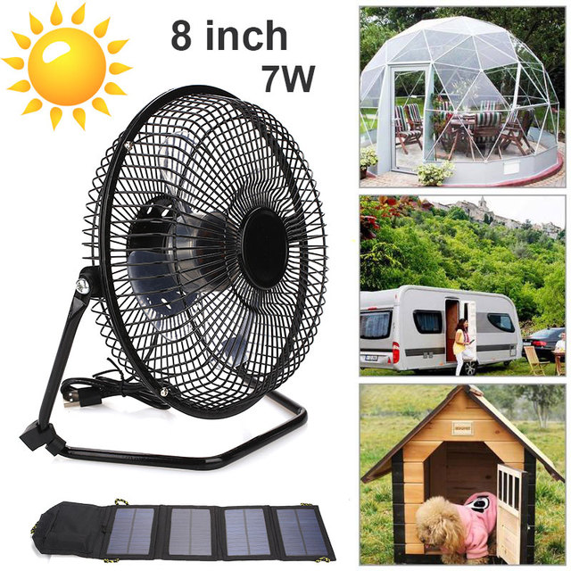 2019 Drop Shpping Foldable 7W 6.5V Energy Solar Panel with Fan 7W 6.5V Solar Panel + Fan Multifunctional Universal Outdoor