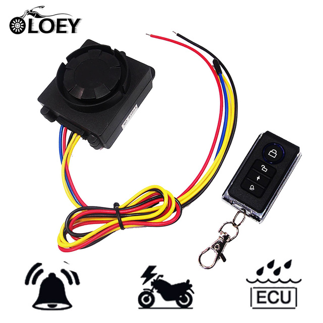 OLOEY 12V Motorcycle Alarm 125dB Motorbike Scooter Anti-theft Security Remote Control System Burglar Alarm Moto Theft Protection