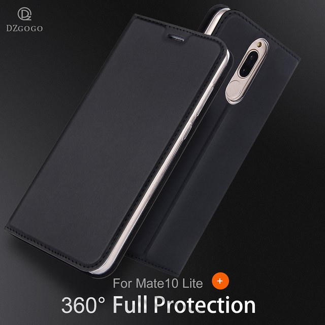 Iskin PU Leather Case For Huawei Mate 10 Lite Case Phone Case Mobile Shell Wallet Stand Flip Cover For Huawei Honor 9i Cover
